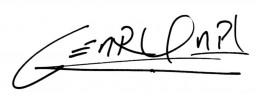 Signature of César García