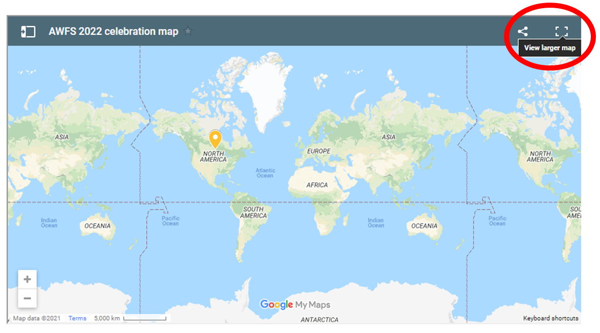 view larger map circled on map image