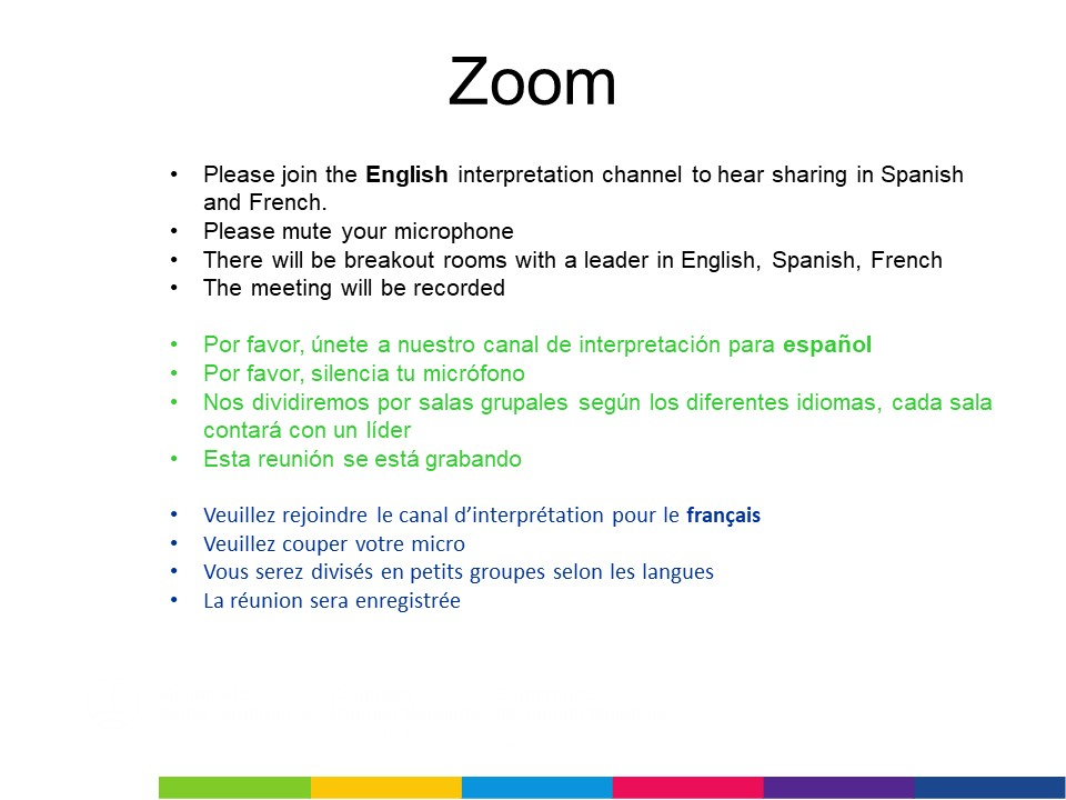 instructions to join interpretation channel