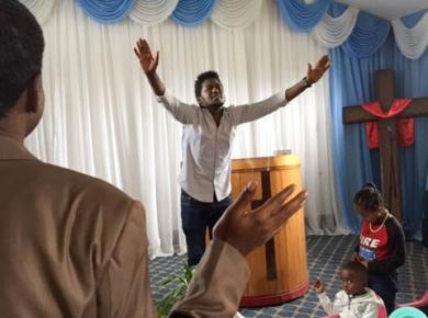 A worship service at Central Legetaffo Meserete Kristos Church, Ethiopia. Photo: Tesfatsion Dalellew