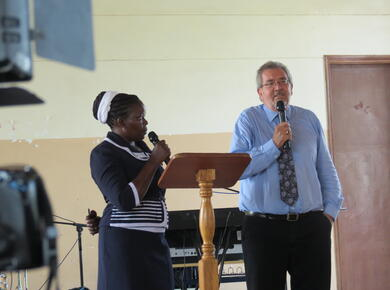 Alfred speaks about the Holy Spirit at Renewal 2027 in Kenya 2018