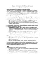 Mission Commission Terms of Reference