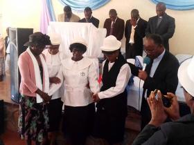 Bessilina Ziduli, Sikhanyisiwe Dube, Catherine Ndlovu, Suzen Ndlovu and Bishop Sindah Ngulube.
