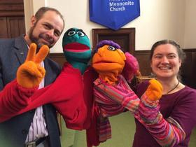 Home Street Mennonite Church World Fellowship Sunday puppets