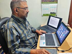 prayer at computer