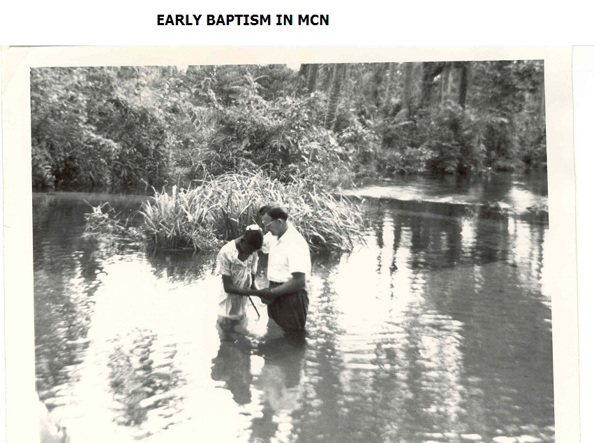 An early baptism in Mennonite Church Nigeria. Photos courtesy of Mennonite Church Nigeria.