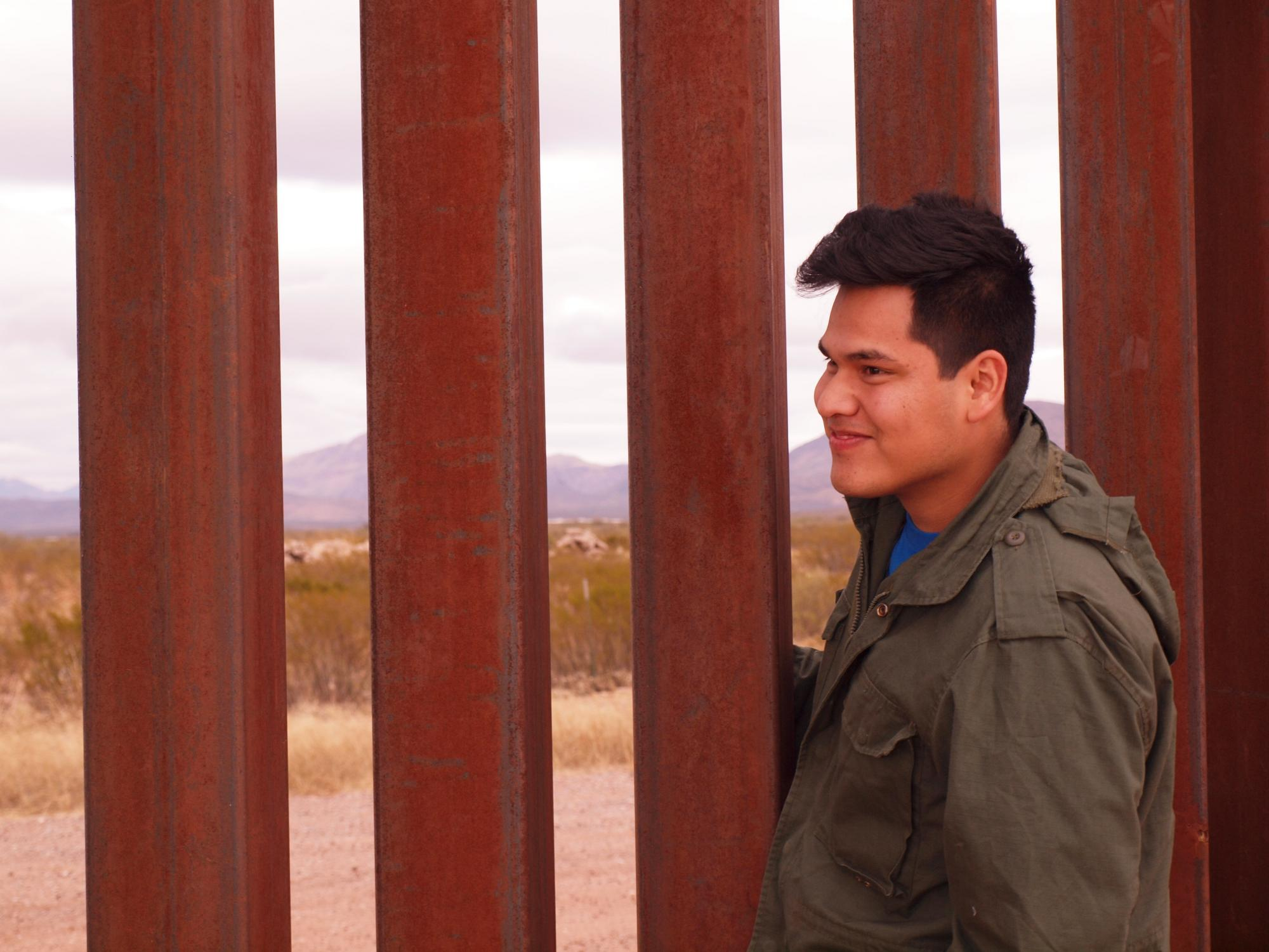 Bolivian YAMEN participant Juan Torrico Soliz, serving in Mexico City, on an MCC trip to the U.S.-Mexico border in Agua Prieta, Sonora. (MCC Photo: Erica VanEssendelft)