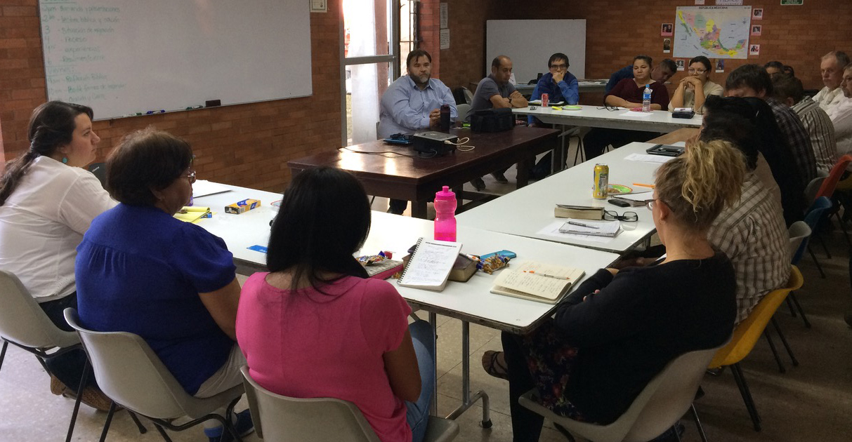 Maria de Jesús Gómez Aguilar sharing the experiences workings with migrants in the Mennonite church in Veracruz